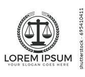 law firm logo design. | Shutterstock .eps vector #695410411