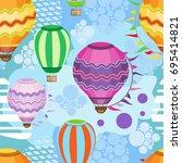 vector seamless pattern of...   Shutterstock .eps vector #695414821