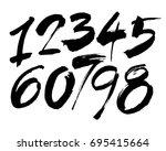 vector set of calligraphic... | Shutterstock .eps vector #695415664