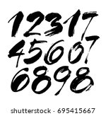 vector set of calligraphic... | Shutterstock .eps vector #695415667