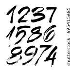 vector set of calligraphic... | Shutterstock .eps vector #695415685