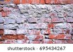 old brick wall texture...   Shutterstock . vector #695434267
