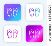 flip flops bright purple and...