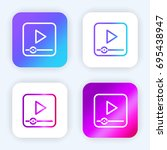 video player bright purple and...