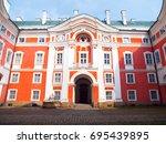 benedictine monastery in... | Shutterstock . vector #695439895