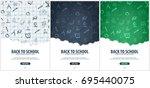 back to school background.... | Shutterstock .eps vector #695440075