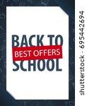 back to school background.... | Shutterstock .eps vector #695442694