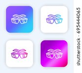 glasses bright purple and blue...