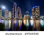 australian modern city at night ... | Shutterstock . vector #69544540