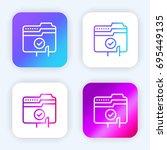 file bright purple and blue...