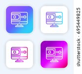 online payment bright purple...