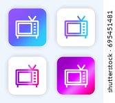 television bright purple and...