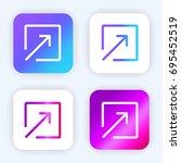 arrow bright purple and blue...