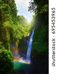 aling aling waterfall with... | Shutterstock . vector #695453965