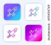 rocket ship bright purple and...