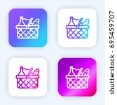 basket bright purple and blue...