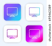 monitor bright purple and blue... | Shutterstock .eps vector #695462389