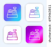 cash register bright purple and ...