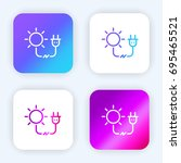 solar energy bright purple and...