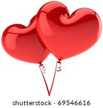 party balloons two 2 heart...   Shutterstock . vector #69546616