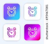 alarm clock bright purple and...