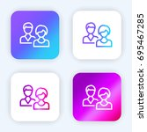 users bright purple and blue...
