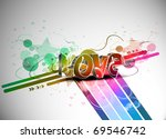 abstract valentines day... | Shutterstock .eps vector #69546742