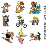 cartoon extreme sport icon | Shutterstock .eps vector #69546766