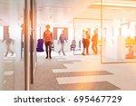 businessmen and businesswomen... | Shutterstock . vector #695467729
