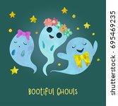 three very beautiful and... | Shutterstock .eps vector #695469235