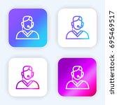 telemarketer bright purple and...
