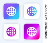 globe grid bright purple and...