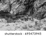 Violent River Rapid In The...