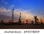 the oil pump  industrial... | Shutterstock . vector #695478859