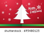 merry christmas and happy new... | Shutterstock .eps vector #695480125