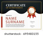 certificate template a4 size... | Shutterstock .eps vector #695483155