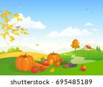 vector cartoon illustration of... | Shutterstock .eps vector #695485189