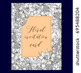 vintage delicate invitation...   Shutterstock . vector #695488204