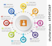 infographic template with... | Shutterstock .eps vector #695491069