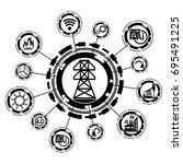 industry 4.0 concept energy... | Shutterstock .eps vector #695491225