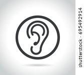 illustration of ear icon on... | Shutterstock .eps vector #695492914