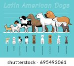 latin american dogs size... | Shutterstock .eps vector #695493061