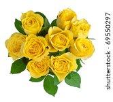 Heart Shape Yellow Roses...