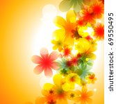 beautiful colorful flower eps10 ... | Shutterstock .eps vector #69550495