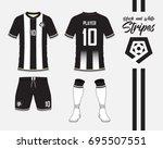 soccer jersey or football kit... | Shutterstock .eps vector #695507551