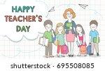 vector illustration template... | Shutterstock .eps vector #695508085