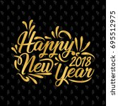 happy new year banner with gold ... | Shutterstock .eps vector #695512975