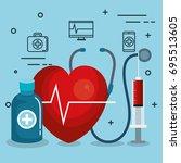 blood donation design   Shutterstock .eps vector #695513605