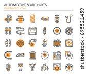 automotive spare part elements  ... | Shutterstock .eps vector #695521459