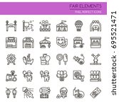 fair elements   thin line and... | Shutterstock .eps vector #695521471